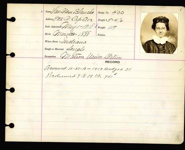Blanche Van Ness personnel card