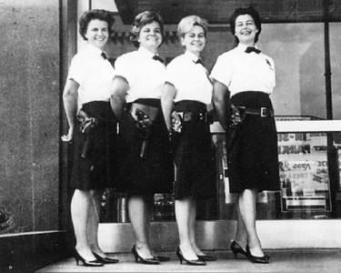 L-R: Elizabeth Coffal, Barbara Hanley, Alberta Edwards, Florence Doty, 1967