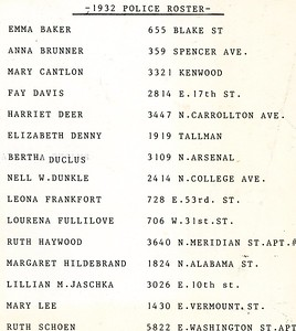 1932 Policewoman Roster