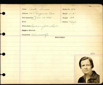 Anna Peats Yoh personnel card