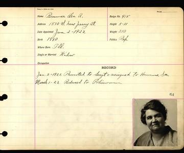 Anna Brunner personnel card