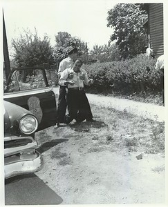 Clouse being dragged away Elder Avenue