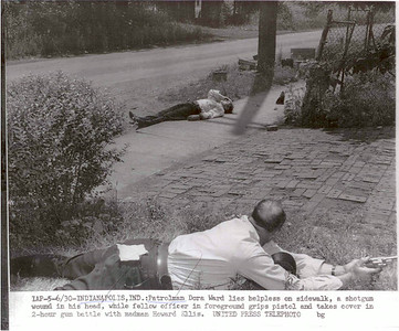 Dora Ward on pavement 1954