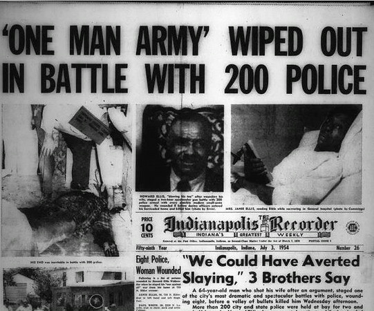 Front page of Indianapolis Recorder - July 3, 1954