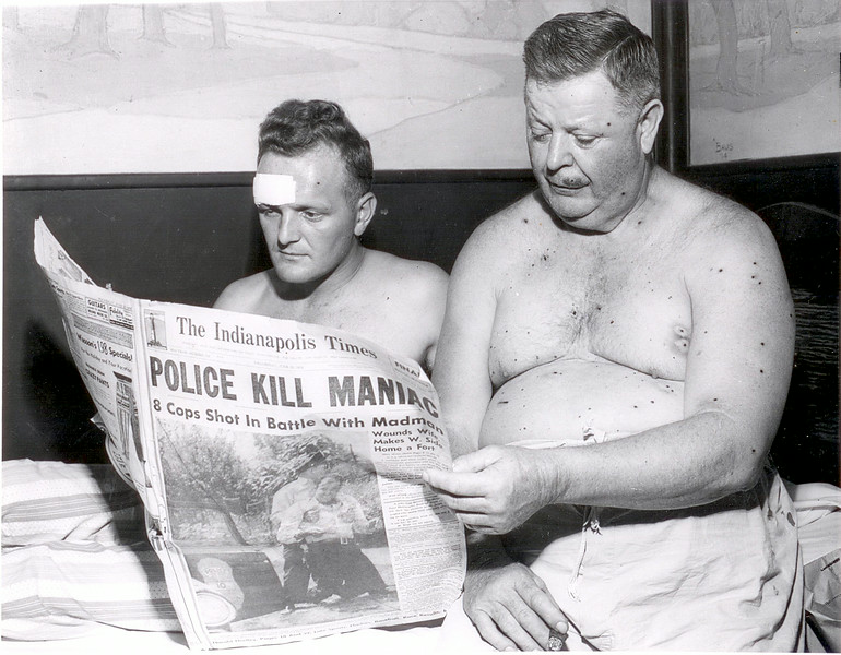 Dora Ward and Lt. Paul D. Pearsey in hospital, July 1, 1954.