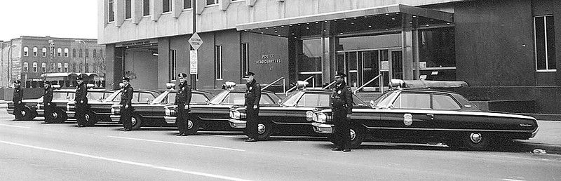 60's IPD police cars side view