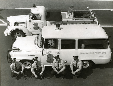 1960's Police accident rescue vehicles