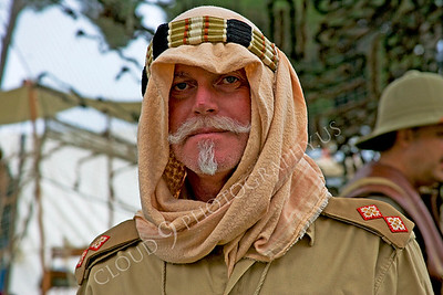 HR-BE 00004 A British Royal Army servicemember wearing desert attire reenactor, by Peter J Mancus