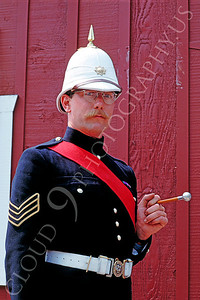 HR-BE 00001 A historical reenactor wears one of the British Empire's many uniforms, by Peter J Mancus
