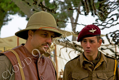 HR-BE 00006 Two British Royal Army World War II era servicemember reenactors, by Peter J Mancus