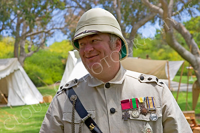 HR-BE 00002 A British Empire soldier historical reenactor, by Peter J Mancus