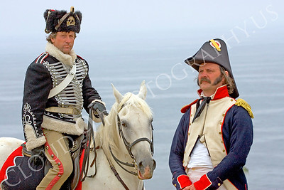HR-ENEMIES 000001 Prussian calvary officer and a French Napoleonic era soldier, by Peter J Mancus