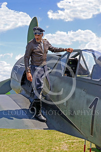 HR - GWWIIAC 00001 German World War II Focke-Wulf Fw 190 fighter pilot historical re-enactor by Stephen W D Wolf