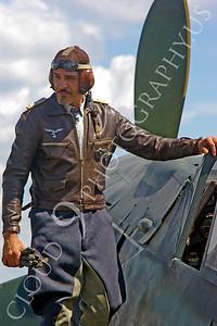 HR - GWWIIAC 00003 German World War II Focke-Wulf Fw 190 fighter pilot historical re-enactor by Stephen W D Wolf