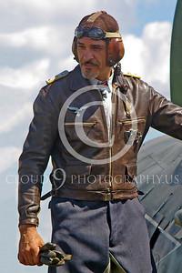 HR - GWWIIAC 00009 German World War II Focke-Wulf Fw 190 fighter pilot historical re-enactor by Stephen W D Wolf