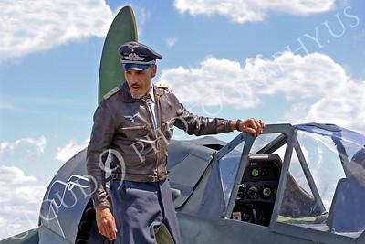 HR - GWWIIAC 00007 German World War II Focke-Wulf Fw 190 fighter pilot historical re-enactor by Stephen W D Wolf