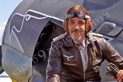 HR - GWWIIAC 00004 German World War II Focke-Wulf Fw 190 fighter pilot historical re-enactor by Stephen W D Wolf
