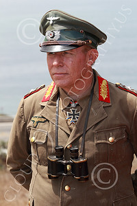 HR-WWIIGAS 00001 A good re-enactiment of German World War II Field Marshall Erwin Marshall known as The Desert Fox, looking at the English Channel, historical re-enactor picture by Peter J Mancus