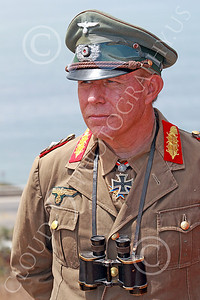 HR-WWIIGAS 00025 A good re-enactiment of German World War II Field Marshall Erwin Marshall known as The Desert Fox, looking at the English Channel, historical re-enactor picture by Peter J Mancus