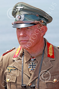 HR-WWIIGAS 00047 A tight crop portrait of a good re-enactiment of German World War II Field Marshall Erwin Marshall known as The Desert Fox, looking at the English Channel, historical re-enactor picture by Peter J Mancus