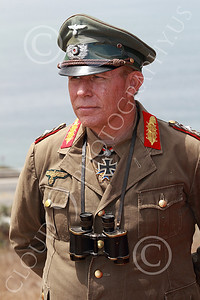 HR-WWIIGAS 00001 A good re-enactment of German World War II Field Marshall Erwin Marshall known as The Desert Fox, looking at the English Channel, historical re-enactor picture by Peter J Mancus