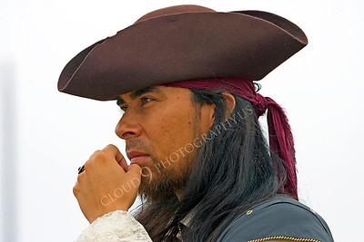 HR-PIR 00008 An intense historical reenactor pirate scans the horizon for a target of opportunity, by Peter J Mancus