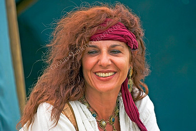 HR-PIR 00022 A smiling female historical reenactor pirate, by Peter J Mancus