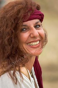 HR-PIR 00009 A smiling female historical reenactor pirate, by Peter J Mancus
