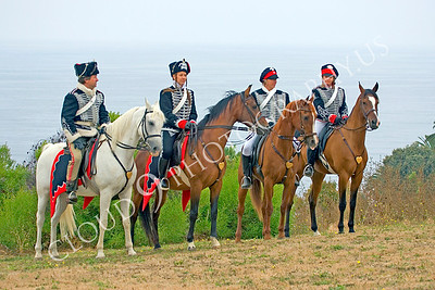 HR-PCAV 00004 Four horse mounted Prussian cavalry historical reenactors, by Peter J Mancus