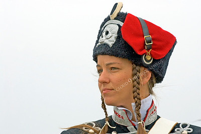 HR-PCAV 00012 A female Prussian cavalry officer historical reenactor, by Peter J Mancus