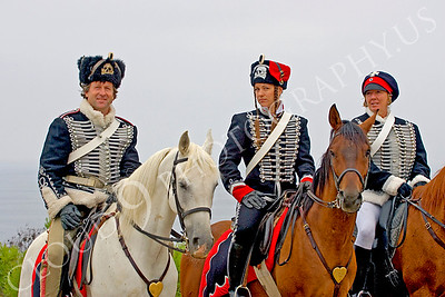 HR-PCAV 00014 A trio of mounted Prussian cavalry historical reenactors, by Peter J Mancus