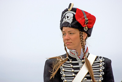 HR-PCAV 00002 A female Prussian cavalry officer historical reenactor sits on her horse, by Peter J Mancus