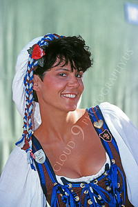 HR-RME 00005 A Renaissance Medieval Europe era historical reenactor beauty flashes a smile, by Peter J Mancus