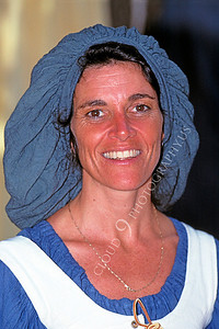 HR-RME 00023 A Renaissance Medieval Europe era historical reenactor working class woman, by Peter J Mancus