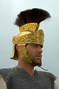 HR-RL 00017 A Roman Legion soldier with helmet on reenactor, by Peter J Mancus