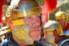 HR-RL 00308 A tight crop portrait of a blue eye, bearded, Roman Legion commander, Roman Legion historical re-enactor picture by Peter J  Mancus