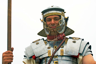 HR-RL 00012 A Roman Legion historical reenactor soldier looks down, by Peter J Mancus