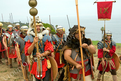 HR-RL 00030 Roman Legion reenactors on the march, by Peter J Mancus