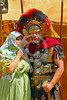 HR-RL 00329 Portrait of a senior Roman Legion commander with a fancy helmet and medals with his wife, Roman Legion historical re-enactor by Peter J  Mancus