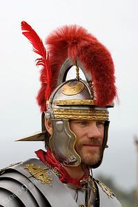 HR-RL 00009 A Roman Legion historical reenactor commander, by Peter J Mancus