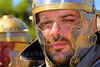 HR-RL 00362 A tight crop portrait of a sad or war weary or tired Roman Legion warrior, Roman Legion historical re-enactor by Peter J  Mancus
