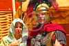 HR-RL 00318 Portrait of a senior Roman Legion commander with a fancy helmet and medals with his wife, Roman Legion historical re-enactor by Peter J  Mancus