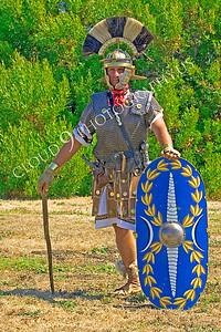HR-RL 00005 A Roman Legion commander with his shield historical reenactor, by Peter J Mancus