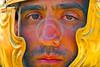 HR-RL 00338 A tight crop portrait of a Roman Legion warrior, Roman Legion historical re-enactor by Peter J  Mancus