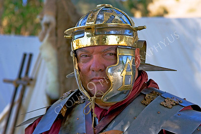 HR-RL 00016 A Roman Legion historical reenactor soldier in camp, by Peter J Mancus