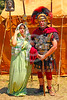 HR-RL 00389 Portrait of a senior Roman Legion commander with a fancy helmet and medals with his wife, Roman Legion historical re-enactor by Peter J  Mancus