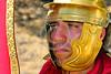 "HR-RL 00298 A tight crop portrait of a very ""Roman"", stern looking, Roman Legion warrior, Roman Legion historical re-enactor picture by Peter J  Mancus"