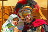 HR-RL 00380 Portrait of a senior Roman Legion commander with a fancy helmet and medals with his wife, Roman Legion historical re-enactor by Peter J  Mancus