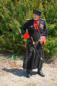 HR-RC 000006 A Russian cossack historical reenactor, by Peter J Mancus