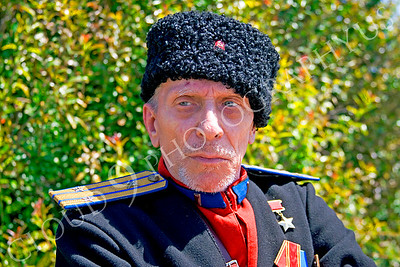 HR-RC 000001 A Russian cossack historical reenactor, by Peter J Mancus